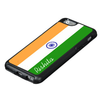 Flag of India with Monogram OtterBox iPhone 6/6s Case