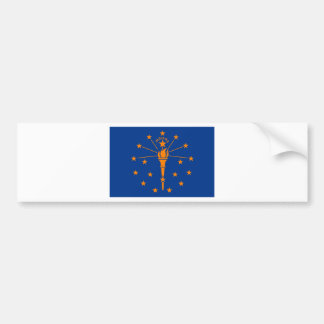 Flag of Indiana Bumper Sticker