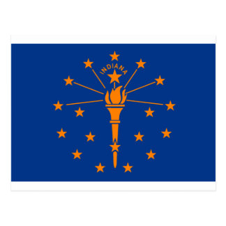 Flag of Indiana Postcard