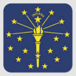 Flag of Indiana Square Sticker