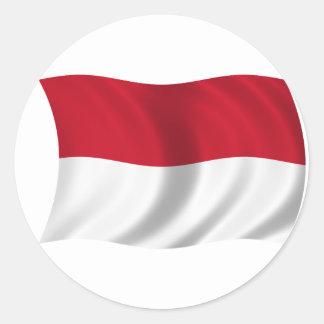Flag of Indonesia Classic Round Sticker