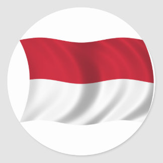 Flag of Indonesia Round Sticker