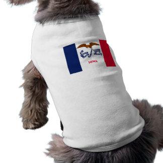 Flag of Iowa Pet T-shirt