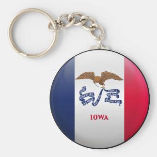 Flag of Iowa Key Ring