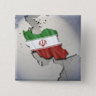 Flag of Iran 15 Cm Square Badge