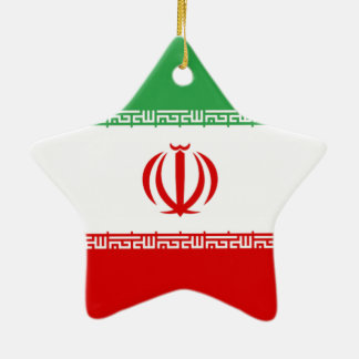 Flag of Iran Christmas Ornament