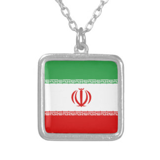 Flag of Iran Silver Plated Necklace