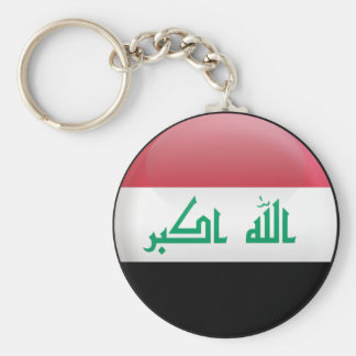 Flag of Iraq Basic Round Button Key Ring