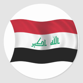 Flag of Iraq Classic Round Sticker