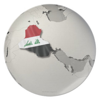Flag of Iraq Party Plate