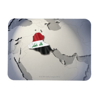 Flag of Iraq Rectangular Photo Magnet