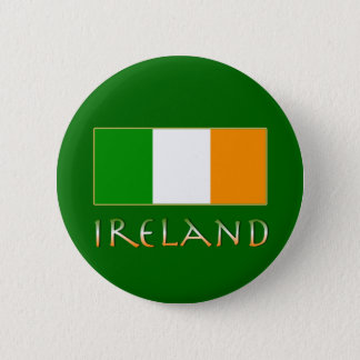 Flag of Ireland 6 Cm Round Badge