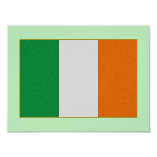 Flag of Ireland - Irish Republic Tri-colour Poster