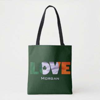 Flag of Ireland Love St.Patrick's Day Tote Bag