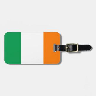 Flag of Ireland Luggage Tag w/ leather strap