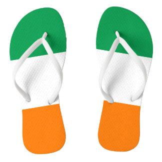 Flag of Ireland Shamrock Flip Flops