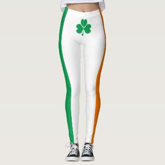 Flag of Ireland Shamrock Leggings