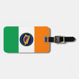 Flag of Ireland with Coat of Arms Luggage Tag