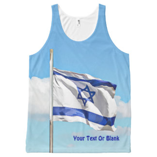 Flag Of Israel All-Over Print Tank Top
