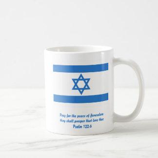 Flag of Israel, Classic White Coffee Mug