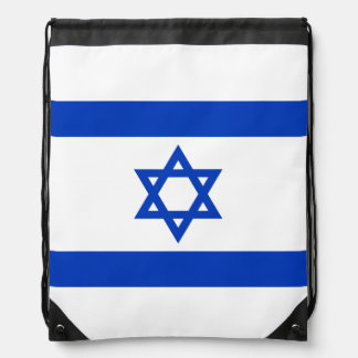 Flag of Israel Drawstring Bag