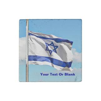 Flag Of Israel Stone Magnet