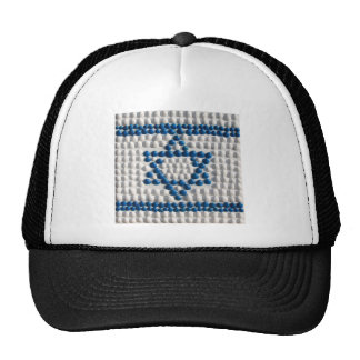 Flag of Israel made of shells from Israel Trucker Hats