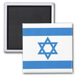 Flag of Israel Square Magnet