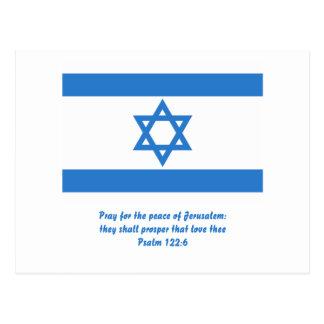 Flag of Israel, Postcard