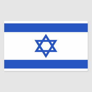 Flag of Israel Rectangular Sticker