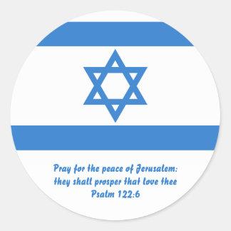 Flag of Israel, Round Sticker