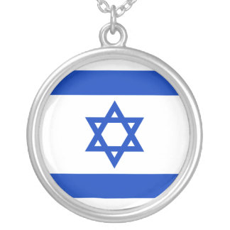 Flag of Israel Silver Plated Necklace