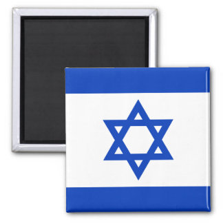 Flag of Israel Square Magnet