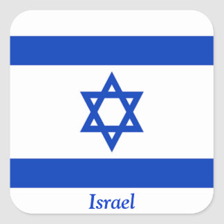 Flag of Israel Square Sticker
