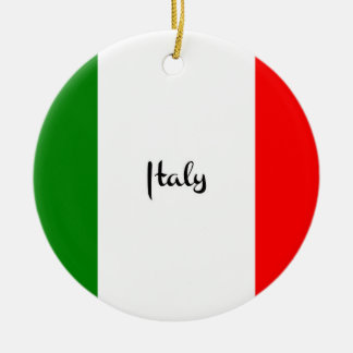 Flag of Italy Christmas Ornament
