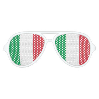 Flag of Italy, Fun Italian Flag Aviator Sunglasses
