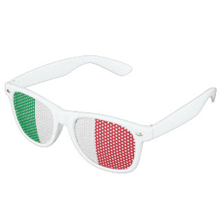 Flag of Italy, Fun Italian Flag Retro Sunglasses