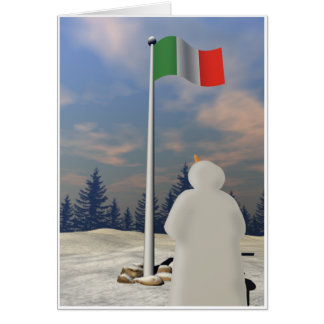 Flag of Italy Greeting Card