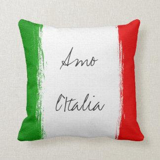 Flag of Italy. i love italy. Cushion