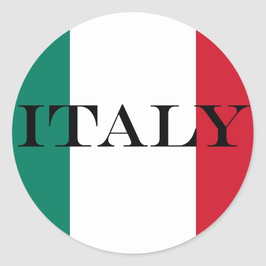 Flag of Italy Italia Italian Classic Round Sticker