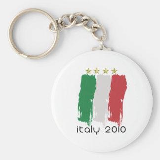Flag of Italy Basic Round Button Key Ring