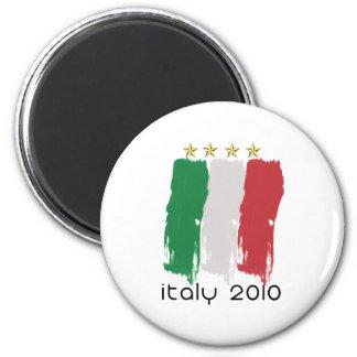 Flag of Italy 6 Cm Round Magnet