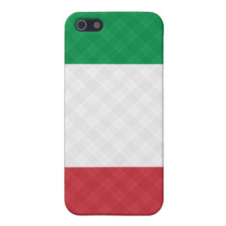 Flag of Italy Plaid ® Fitted™  Case For The iPhone 5