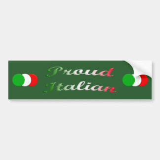 Flag of Italy. Proud Italian. Bumper Sticker