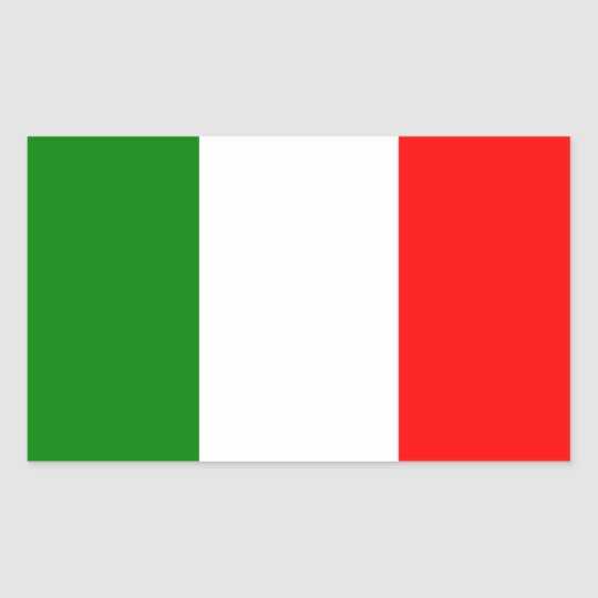 Flag of Italy Rectangular Sticker