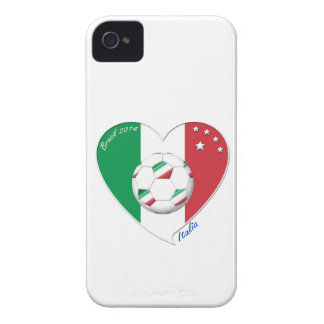 Flag of ITALY SOCCER of national heart 2014 iPhone 4 Case-Mate Cases
