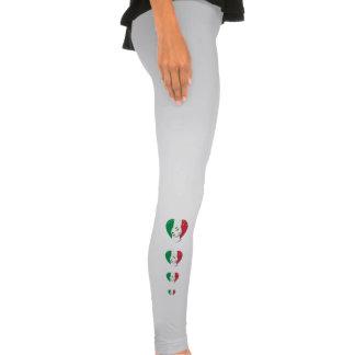 Flag of ITALY SOCCER of national heart 2014 Leggings