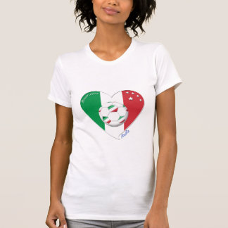 Flag of ITALY SOCCER of national heart 2014
