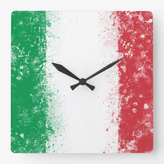Flag of Italy Square Wall Clock