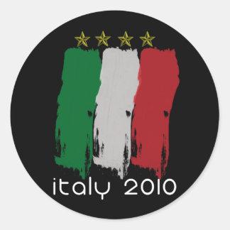 Flag of Italy Round Sticker